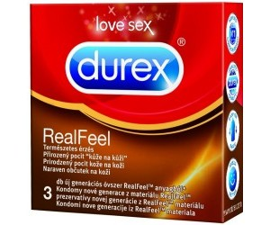 Kondom Real Feel 3 ks Durex