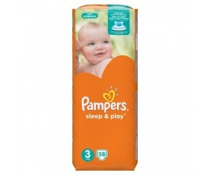 Pampers Sleep&play S3 midi 5-9kg 58ks