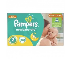 Pampers New baby-dry 2, 3-6kg 100ks