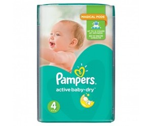 Pampers Active baby-dry 4, 8-14kg 76ks