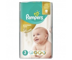 Pampers Premium Care 3 Midi, 5-9kg 60ks