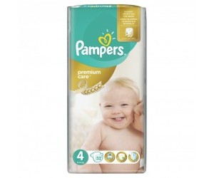 Pampers Premium Care 4, 8-14kg 52ks