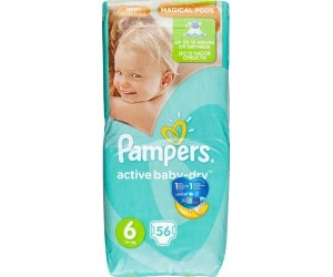 Pampers Active baby-dry 6, 15+kg 56ks