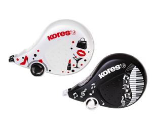 Kores korektor Scooter Black, White 8m x 4,2 mm